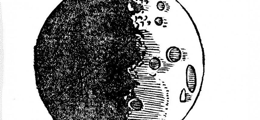 Esquisse de la lune telle que l'observa Charles Malapert.