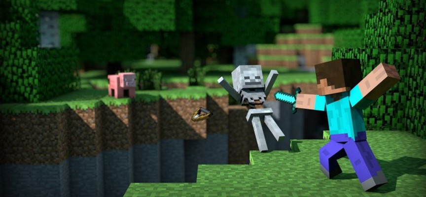 Minecraft  : une physique aussi spéciale que son monde…