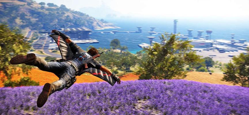 La physique de Just Cause : délirante côté parachutes et wingsuits!