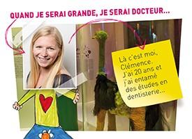 Clémence, future dentiste