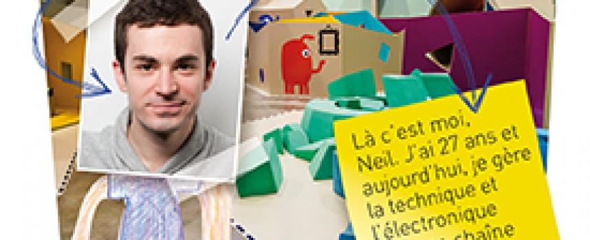 Neil, des robots aux plateaux télé