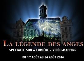 La légende des Anges investit la Grand Place de Mons
